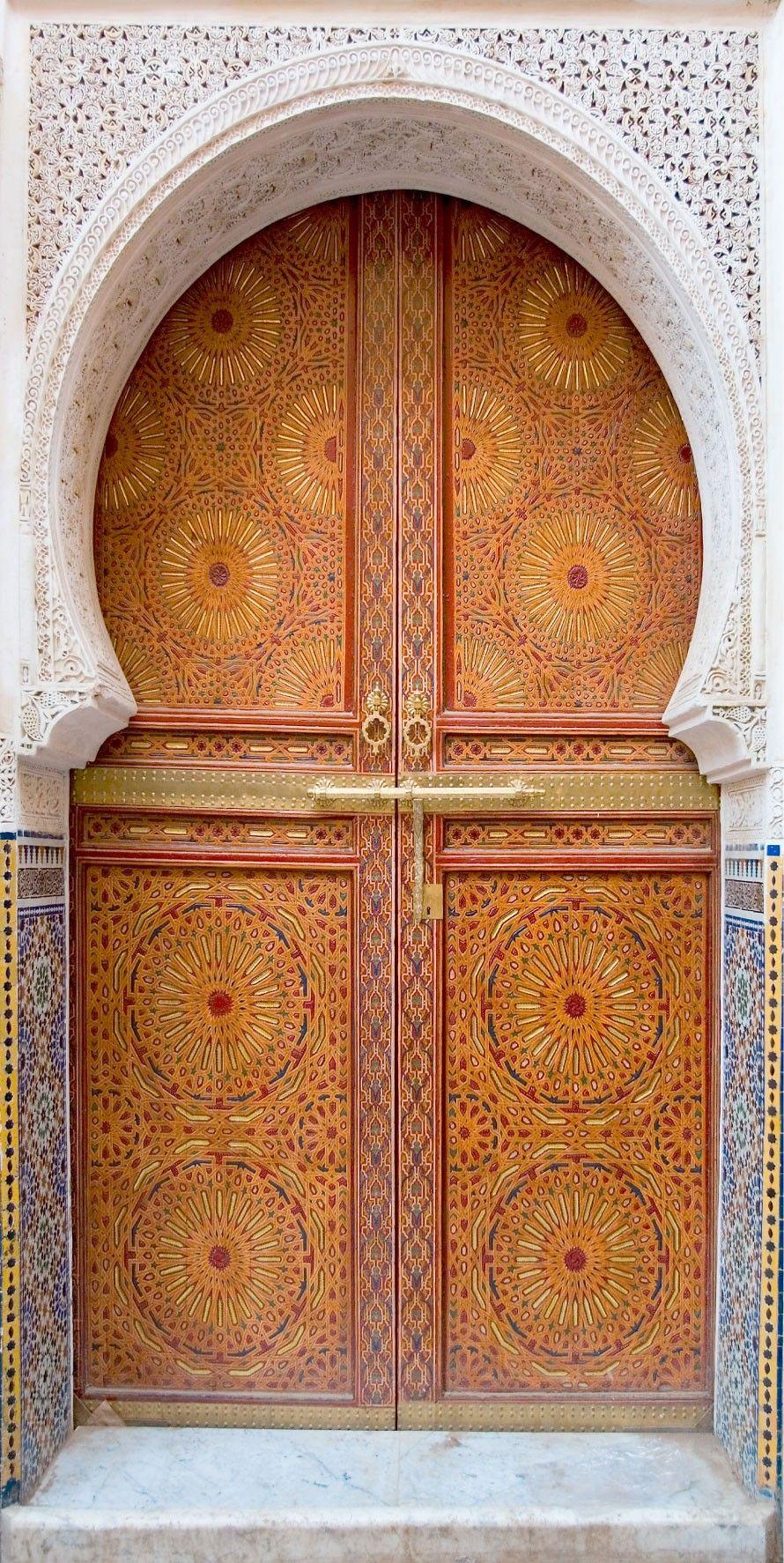 sticker porte trompe l oeil orientale doors window and gates