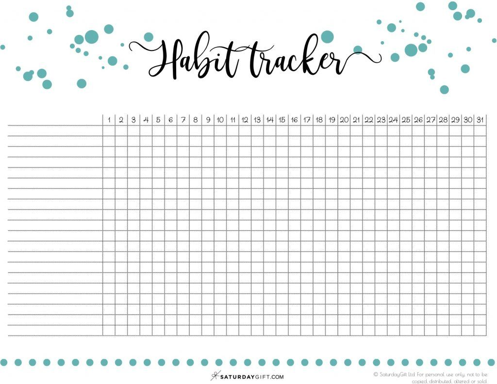 40 Ideas To Track In Your Habit Tracker Free Printable Habit Tracker Printable Tracker Free Habit Tracker Bullet Journal