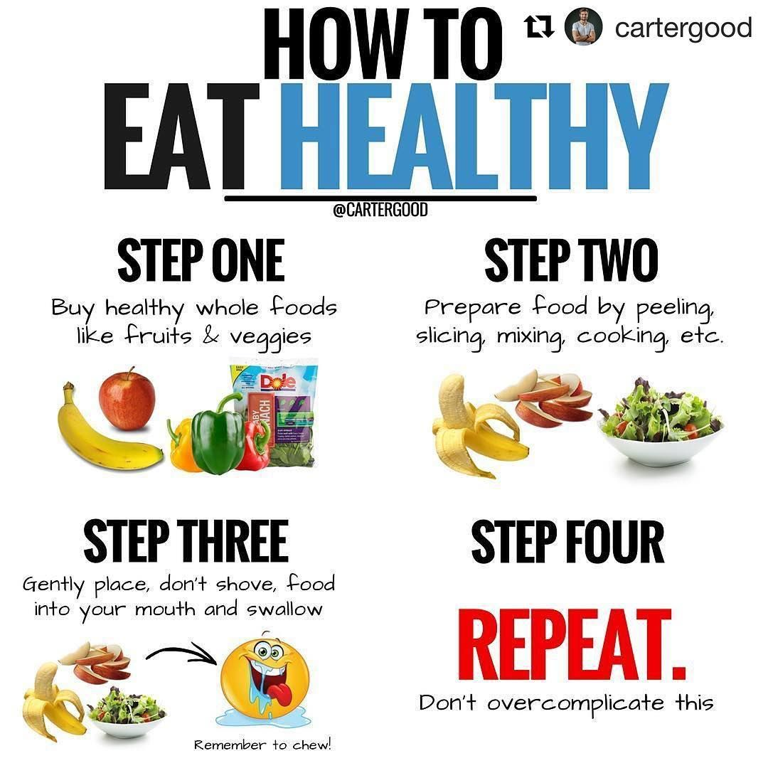 Can You Get Fat From Fruits And Vegetables We Love This Post From Cartergood Repost Cartergood How To Eat Healthy 1 Eat Whole F Healthy Eating Whole Food Recipes Vegetarian Protein Sources