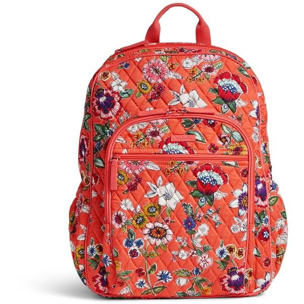 Vera Bradley Campus Tech Backpack ( 108) ❤ liked on Polyvore featuring  bags, backpacks, coral floral, mesh backpack, zip backpack, mesh bag,  flower print ... 931ea46eb8