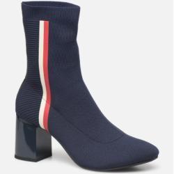Photo of Tommy Hilfiger – Damen – Gestrickter Stiefel mit Absatz – Stiefeletten & Stiefel – blau Tommy Hilfiger