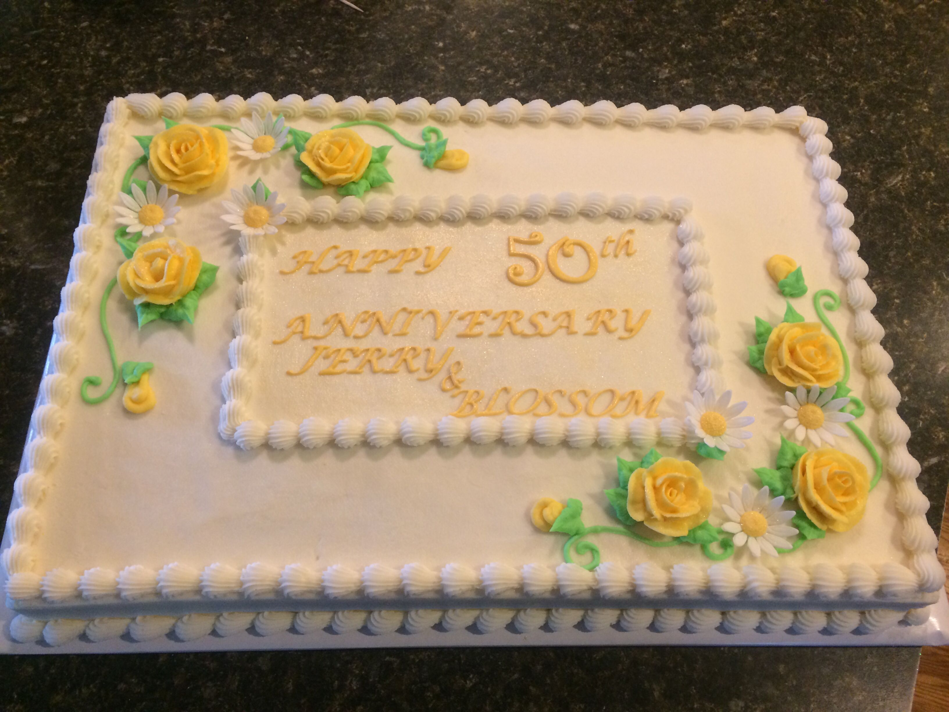 50th Anniversary Sheet Cake With Images 50th Anniversary Cakes