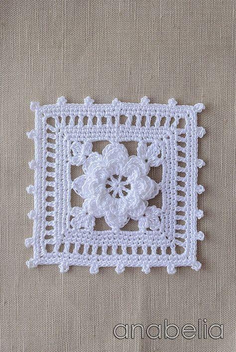 Crochet square, Anabelia | Tejidos Ali | Pinterest | Ganchillo ...
