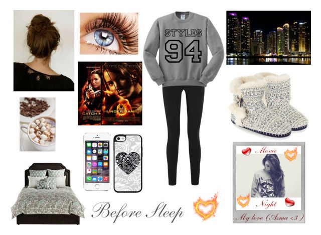 """""""Before sleep movie night with Asma <3"""" by louisericoul ❤ liked on Polyvore featuring Helmut Lang, angelo:HOME, Accessorize and Polaroid"""
