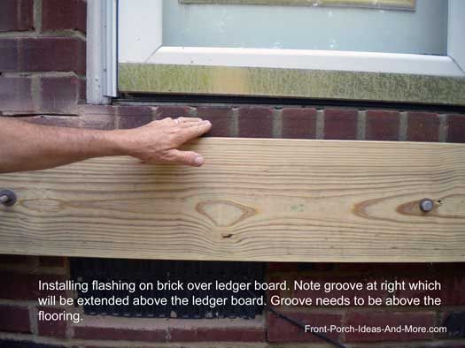 Attach A Deck Ledger Over Brick Foam