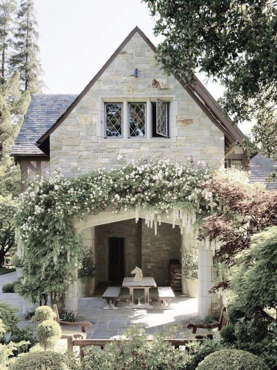 wisteria flower arch