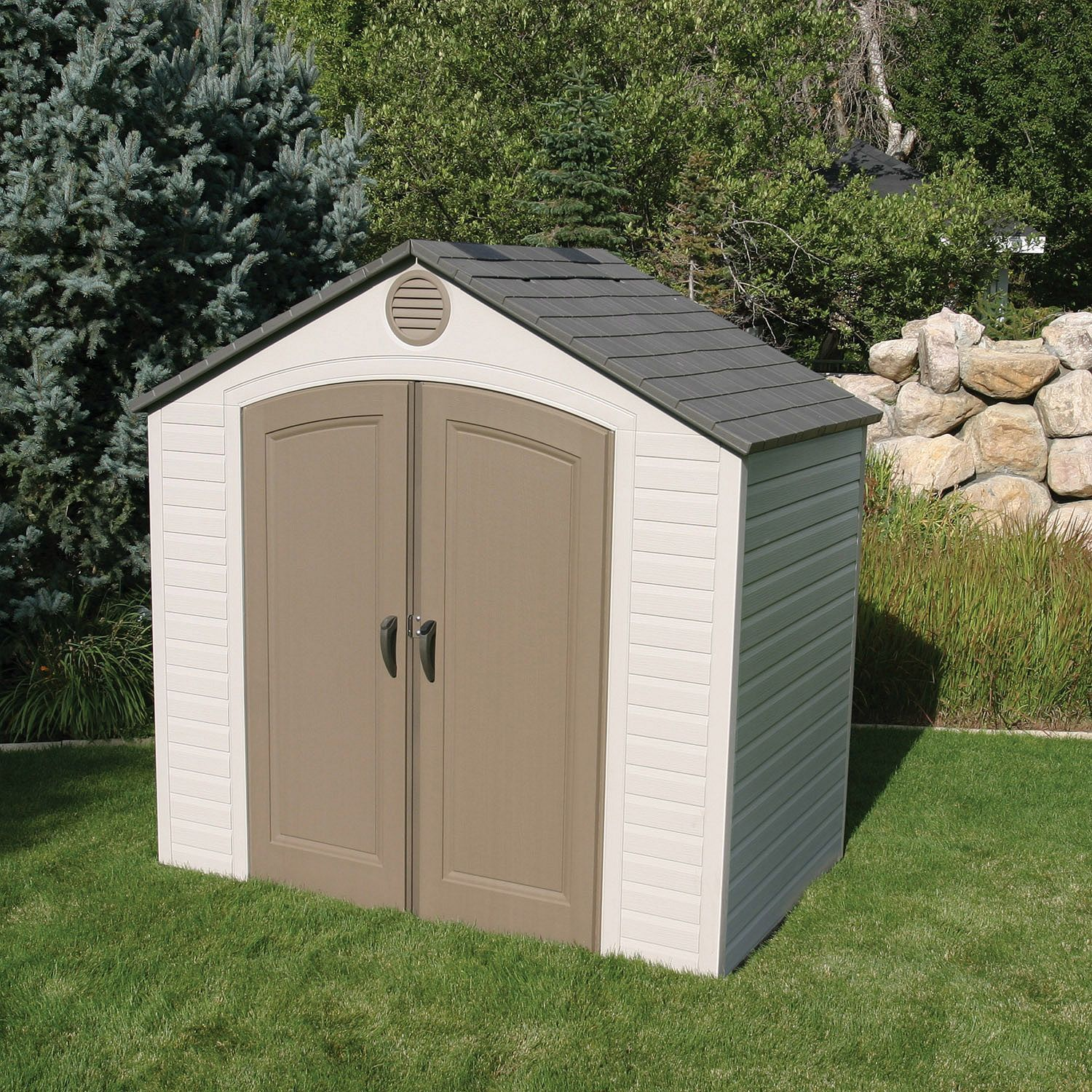 Outdoor Sheds A Shed Is A Great Place To Store Your Lawn Tools And Patio Furniture In The Off Season S Plastic Storage Sheds Outdoor Storage Sheds Storage Shed
