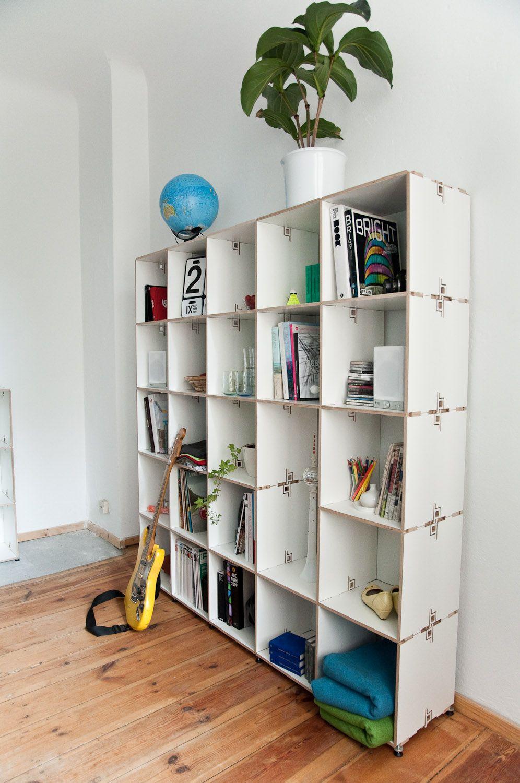 Tool Free Modular Shelf System Snap Modulares Regal Berlin Design Regal