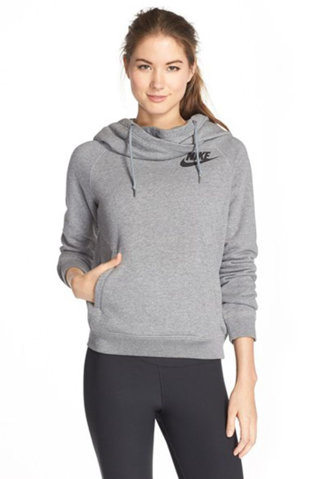 Women s Nike  Rally  Funnel Neck Hoodie 3f27f5bbc