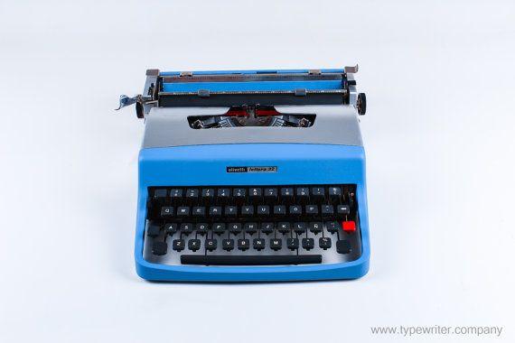 AVATAR BLUE Olivetti Lettera 32  2 free ribbons  by ElGranero