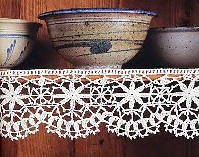 Uncinetto E Crochet Bordo Alluncinetto Per Credenza Rustica