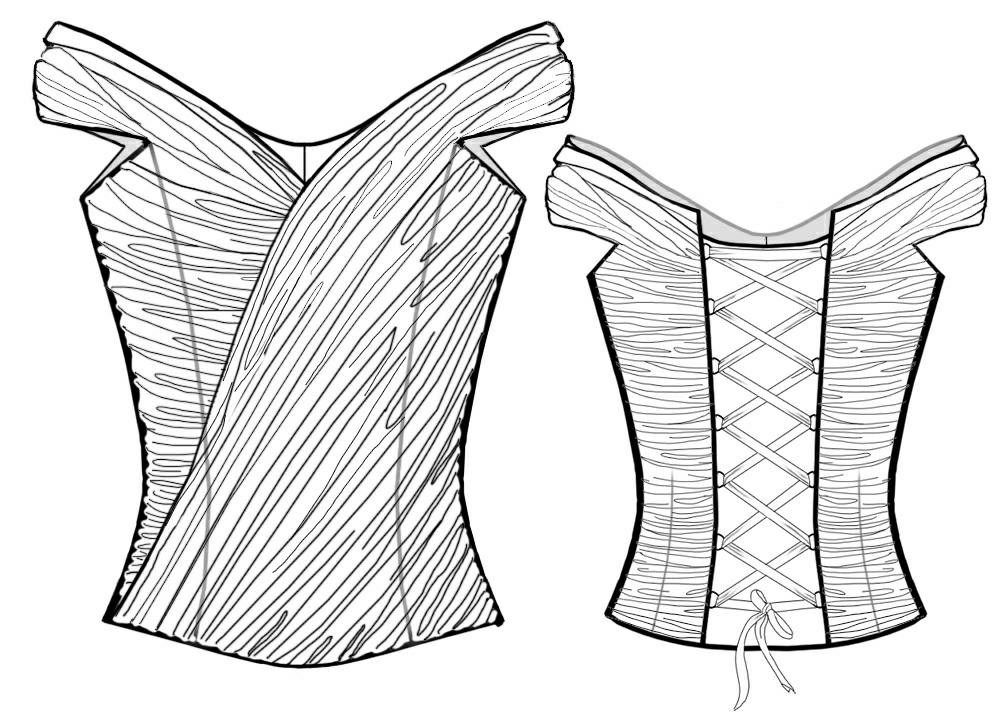 Corset - Sewing Pattern #2016 Made-to-measure sewing pattern from ...