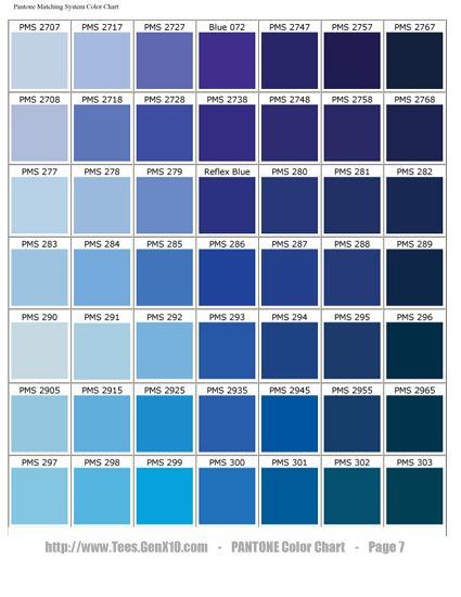 PANTONE Color Chart - PMS - Screen Printing | PANTONE | Pinterest ...
