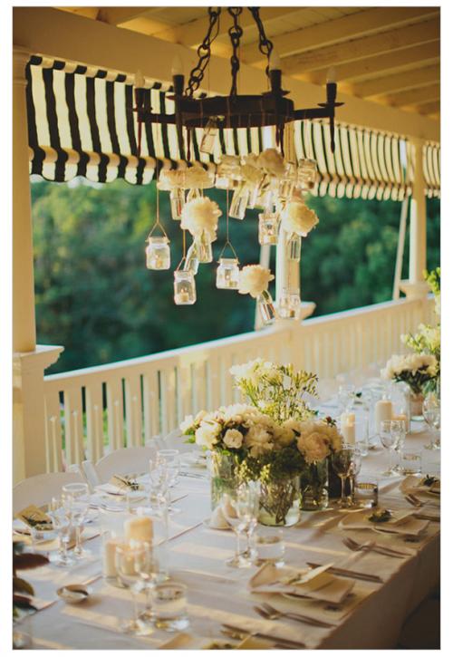 Puedes utilizar los tarros para crear una bonita iluminación con velas - Foto Jonas Peterson