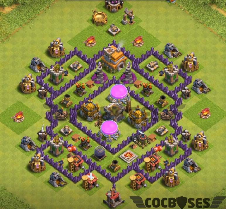 35 Best Th7 Farming Base Links 2020 New Anti Everything Farm Base Clash Of Clans