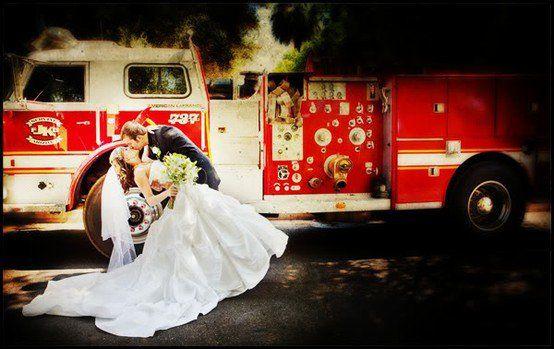 Lovely Firefighter Wedding