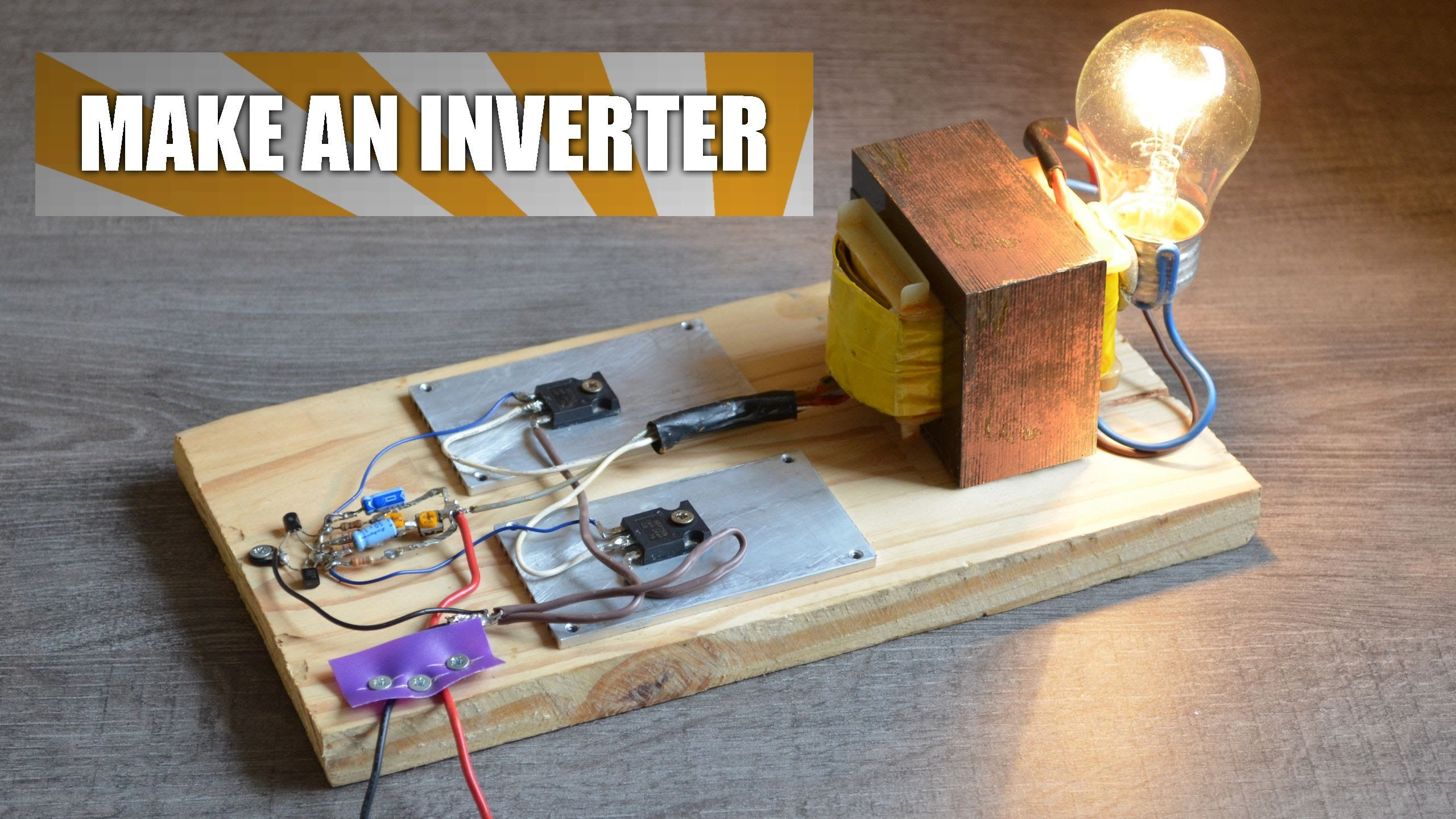 Make An Inverter Diy Experiments 2 Power Ac Devices With A Circuit Using Tiny Ferrite Transformer Electronic Projects Battery