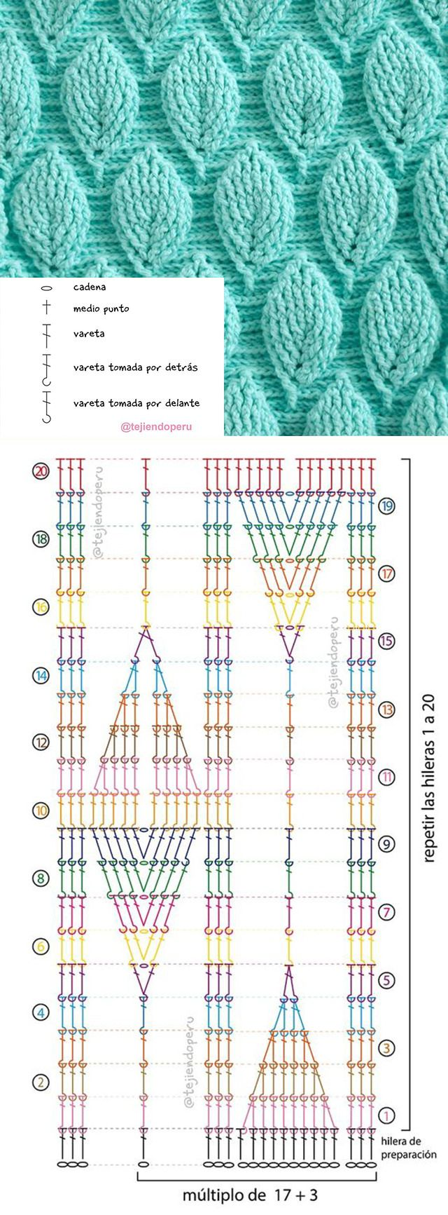 3D Leaf Stitch Crochet Pattern | crochet puntos | Pinterest ...