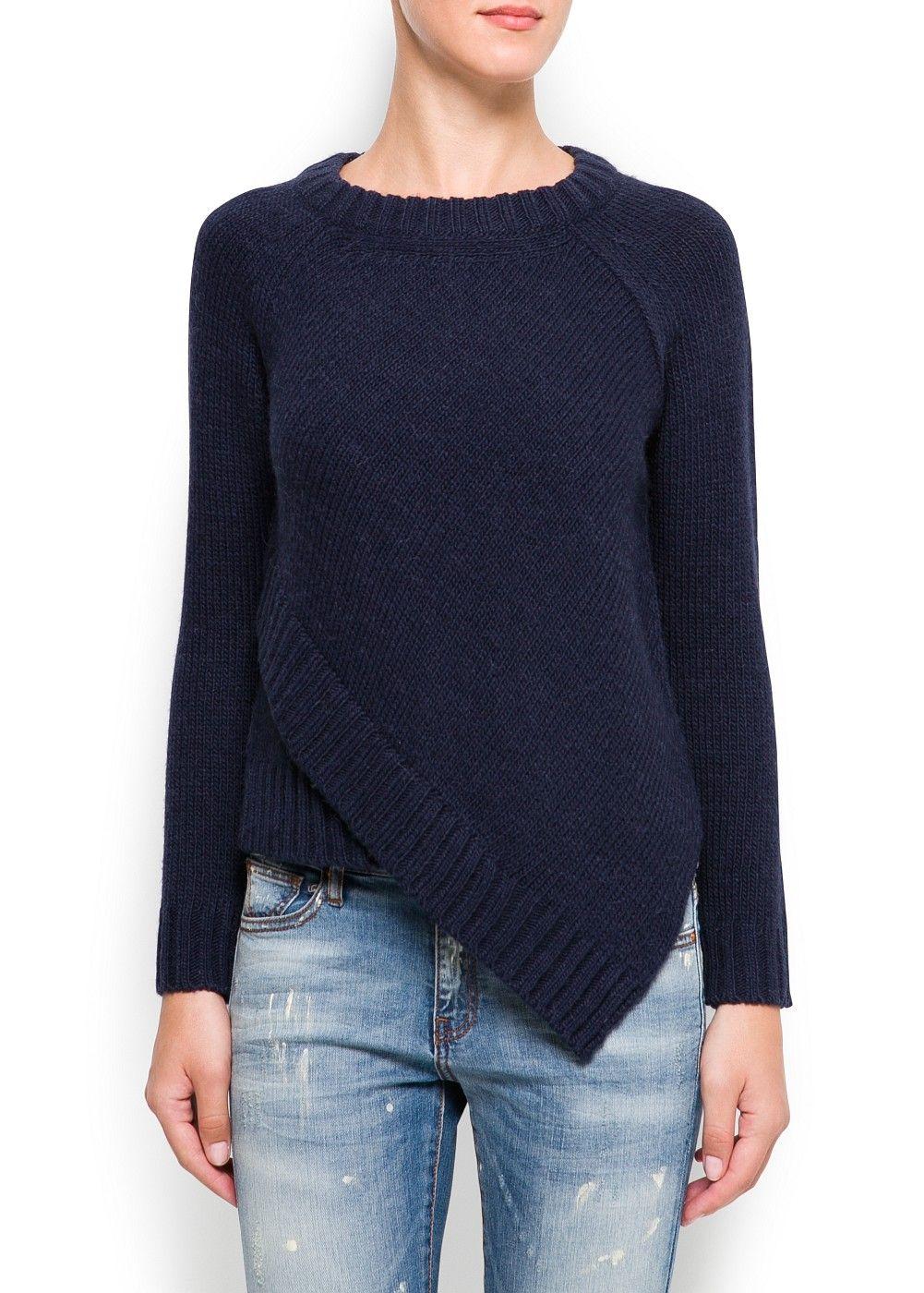 Jersey asimétrico alpaca - Mujer | chalecos | Pinterest | Mango ...
