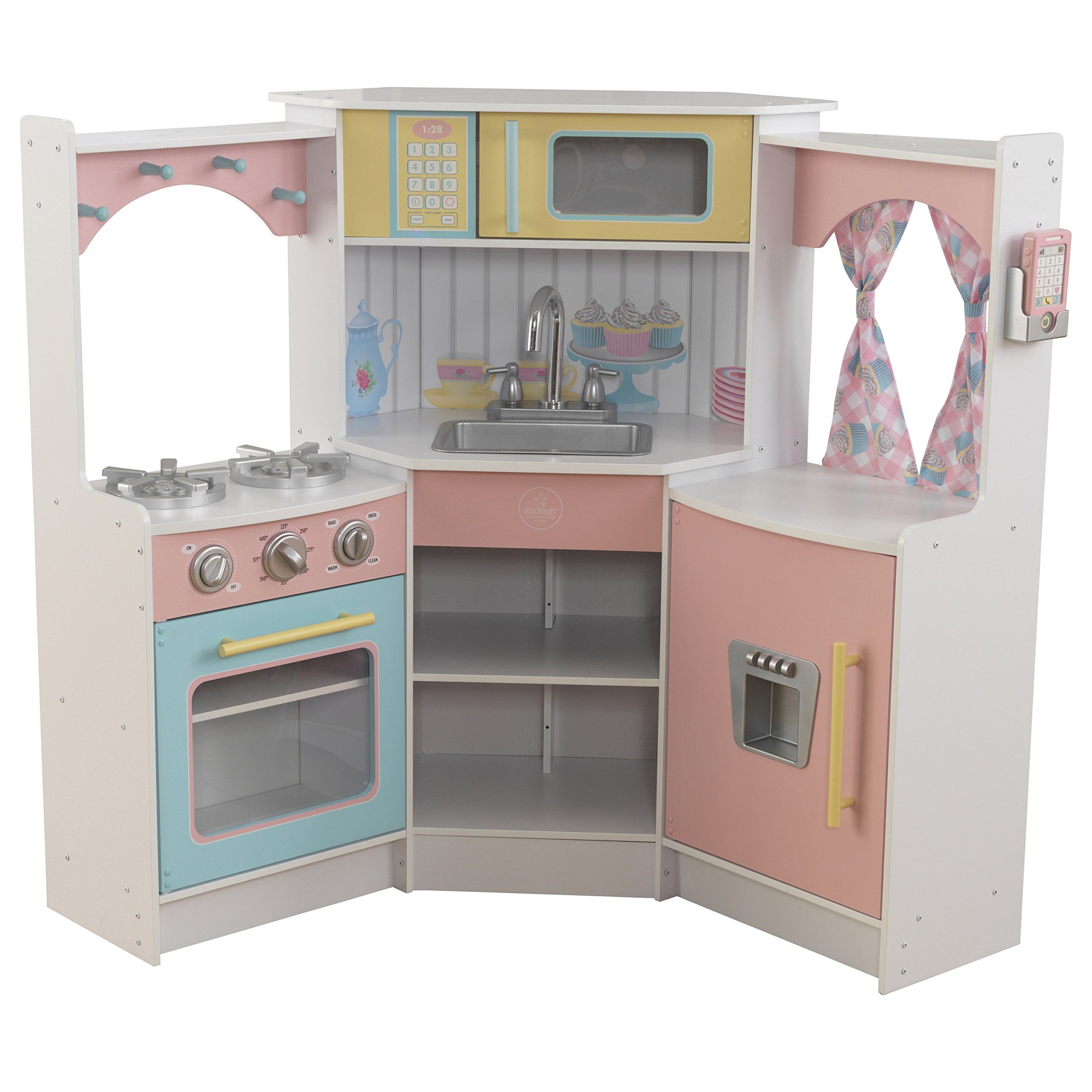 Kidkraft Kids Kitchen Playset White You Could Get More Details By Clicking On The Picture This Pretend Play Kitchen Play Kitchen Kidkraft Vintage Kitchen