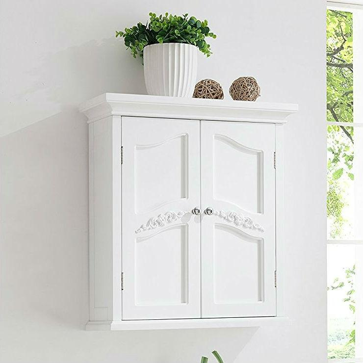 French Classic Style 2 Door Bathroom Wall Cabinet In White French Classic Style Bathroom Wall Cabinets Wall Cabinet
