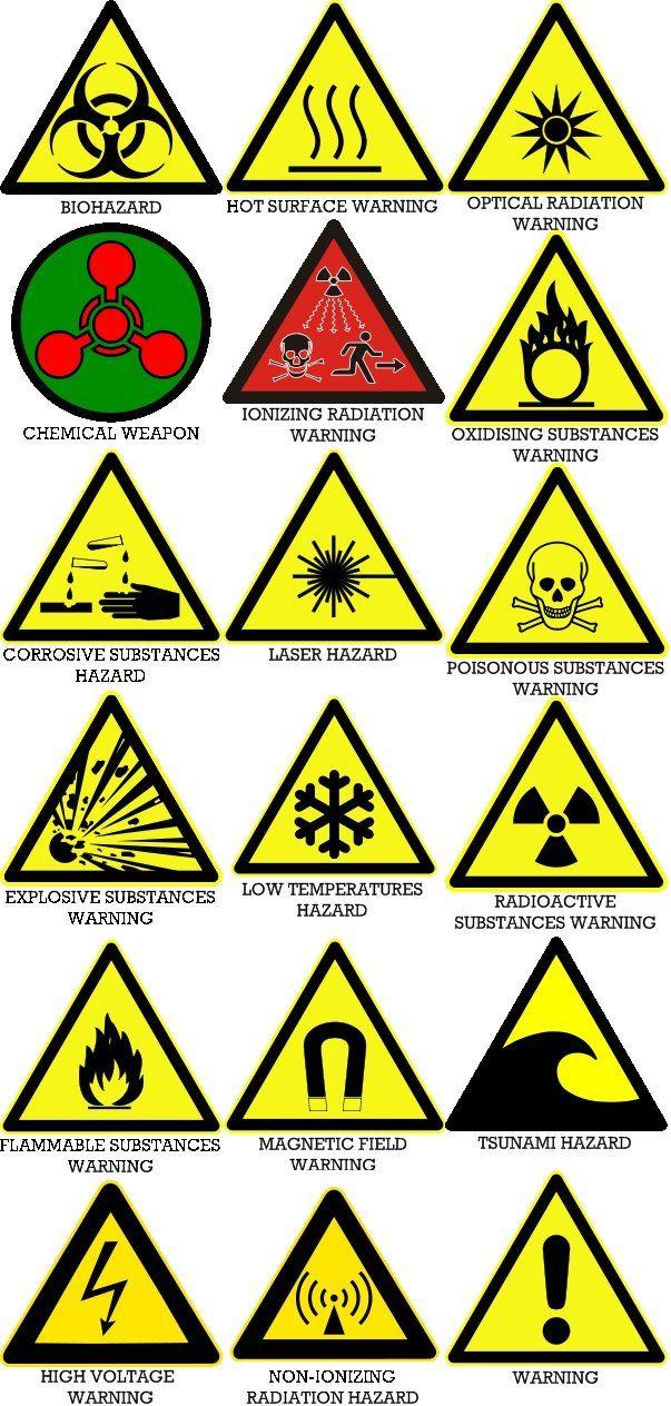 Hazard Symbols.jpg (603×1264) Hazard symbol, Chemical