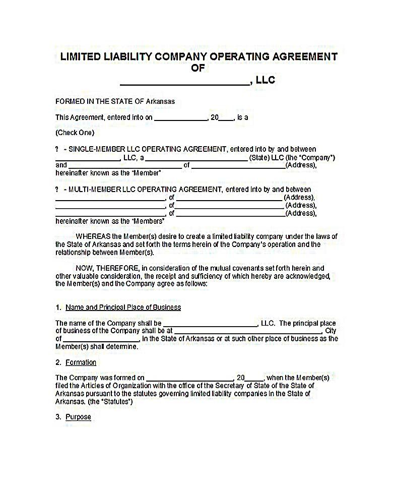 Operating Agreement Llc Ny   Llc Operating Agreement Template