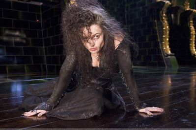 Harry Potter Challenge-Day 4 Bellatrix Lestrange is my least favorite female character. She is a crazy murderer who gets joy of hurting others. She is a horrible, twisted person. Just no.