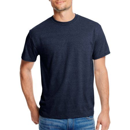 8c88bfc6 Hanes Men's X-Temp with Fresh IQ Short Sleeve T-Shirt, Size: Small, Blue