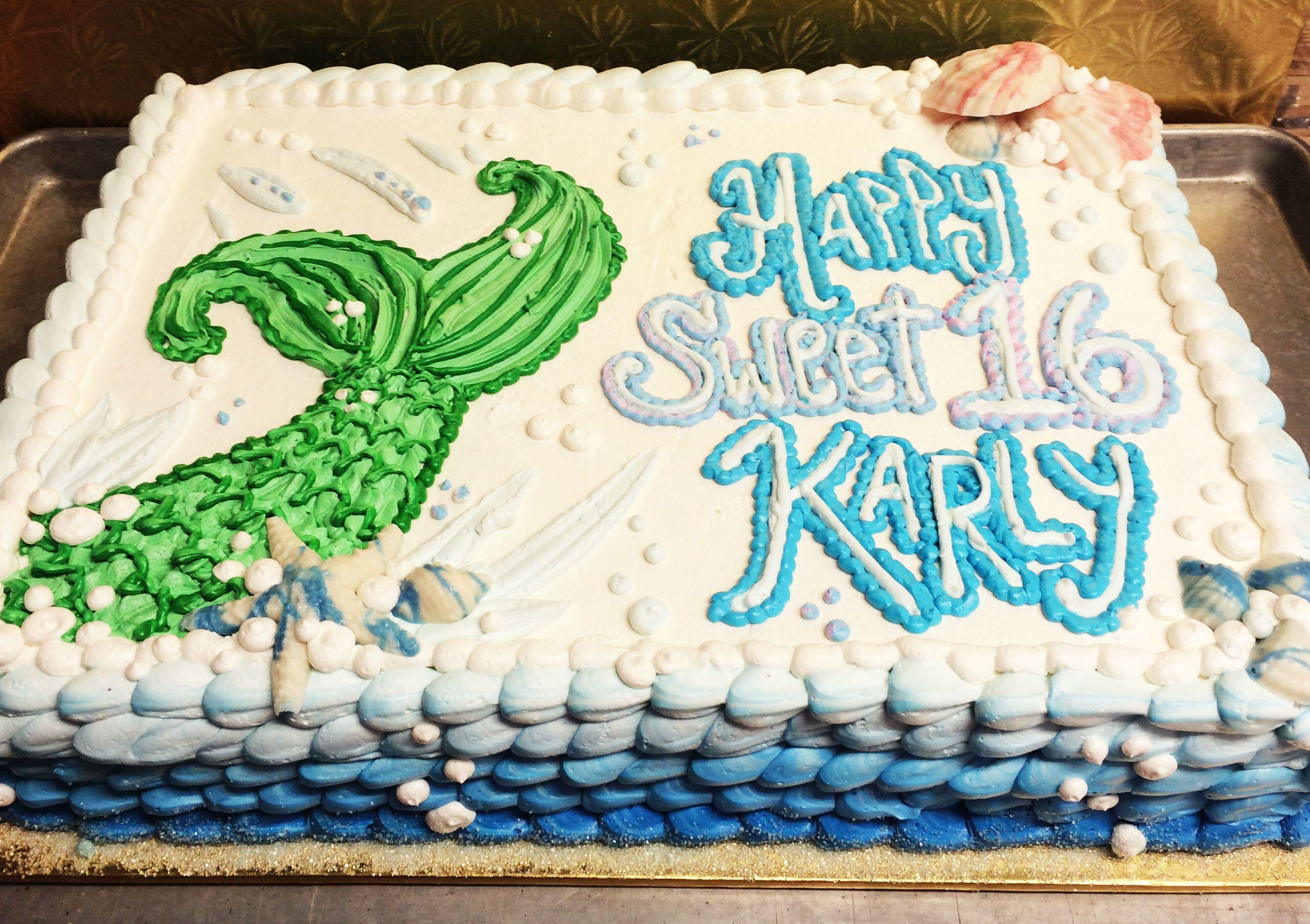 Mermaid Tail Design Mueller S Bakery Mermaid Birthday Cakes