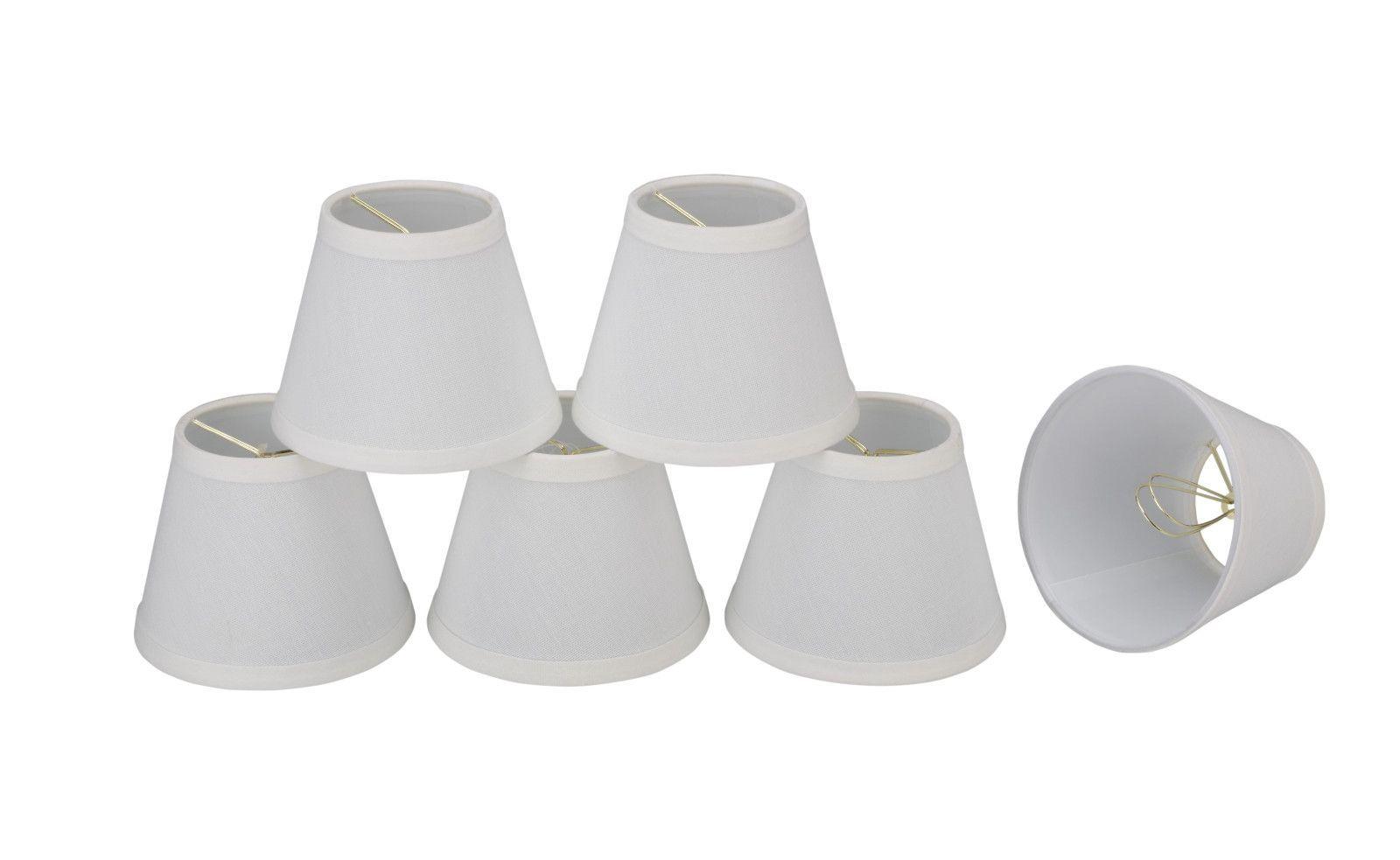 Mini Lampenschirme Für Kronleuchter ~ Small hardback empire shape mini chandelier clip on lamp