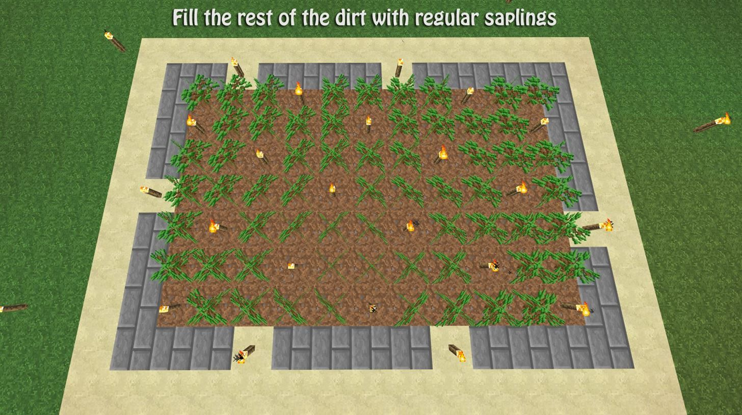 How to Build a Tree Farm in Minecraft for Easy Access to