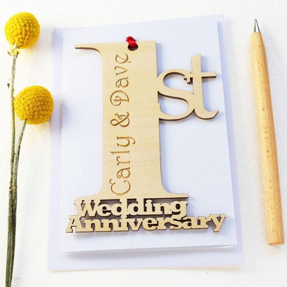 Greeting card stunning 1st wedding anniversary card design greeting card stunning 1st wedding anniversary card design personalised wedding anniversary card sample m4hsunfo Images
