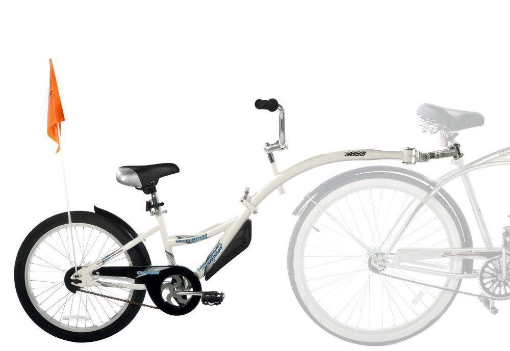 Child pull behind co pilot bike trailer attachment pedal