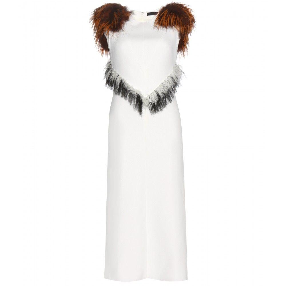 PROENZA SCHOULER Fox fur trimmed dress