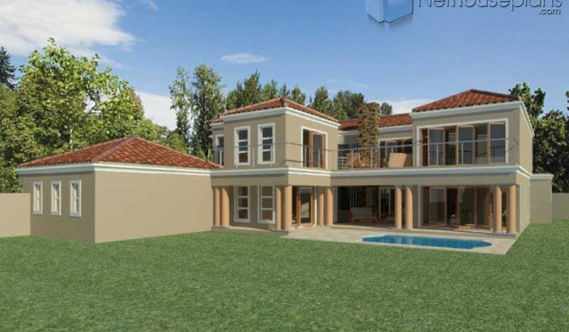5 Bedroom Double Storey House Plan In South Africa Nethouseplansnethouseplans In 2020 Double Storey House House Plan Gallery Double Storey House Plans