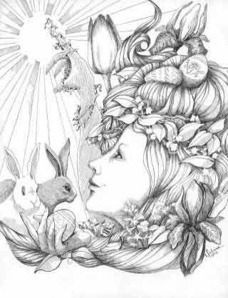 Ostara March 21 The Ink Witch Artes Desenhos