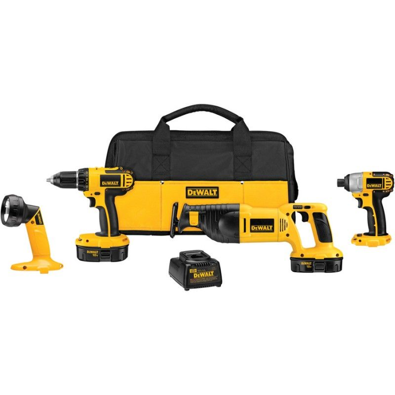 dewalt 4-tool 18-volt cordless combo kit at lowe's for $219   a ...