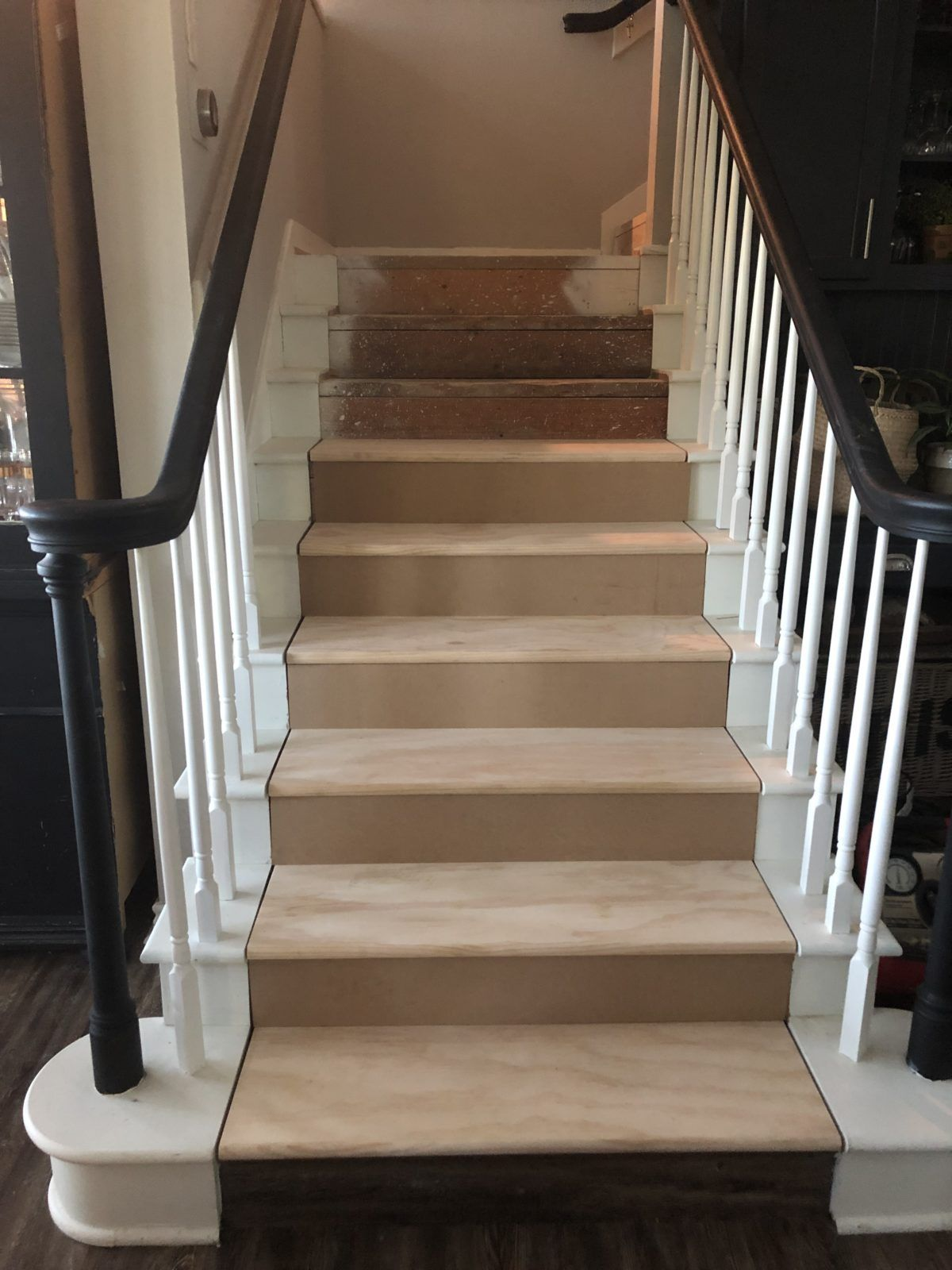How To Update Carpeted Stairs With Paint Open concept