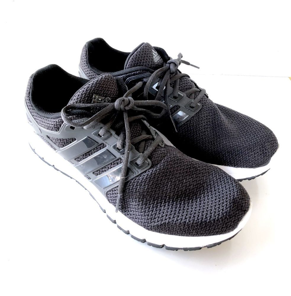 b8b3279e2a8 Adidas Energy Cloudfoam Men s 13 Black White Trainers Athletic Sneakers  Shoes