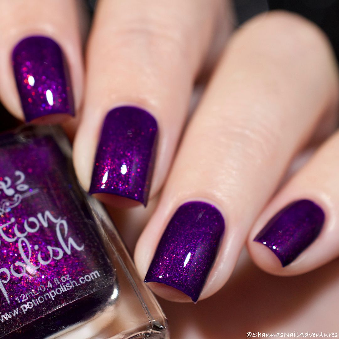Potion Polish in \'Love Potion\'   Dark purple shimmer #Indie nail ...