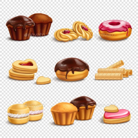 Photo of Confectionery Products Icons Collection