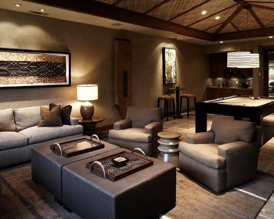 The ceiling treatment is fabulous.  Love the earthy color palette. Nice space.   Decorator Showcase - eclectic - living room - san francisco - Green Couch Interior Design
