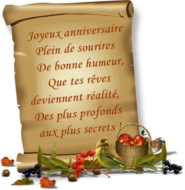 Texte De Joyeux Anniversaire
