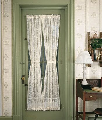 Country Floral Lace Door Panel Curtains Panel Doors Curtain Decor