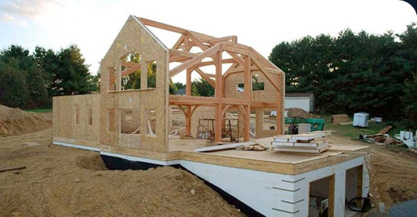 Home combining sips and timber sip building pinterest for Sip home construction