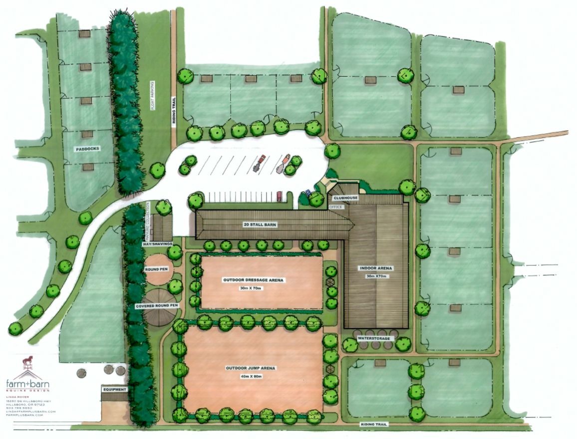 Equestrian Facility Layout Bing Images Horse Barns
