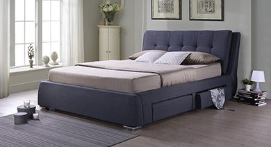 upholstered bed with storage drawers upholstered storage bed - Photos Of Beds