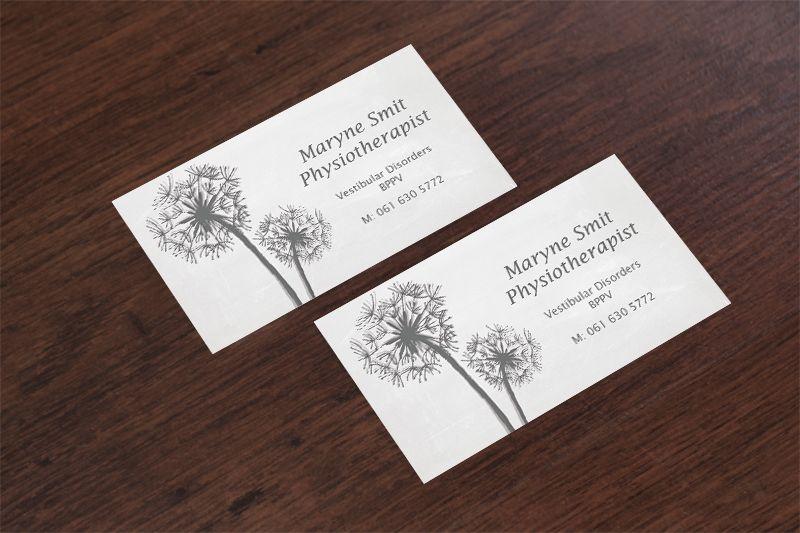 Maryne Smit logo and business card design by SammyJackles