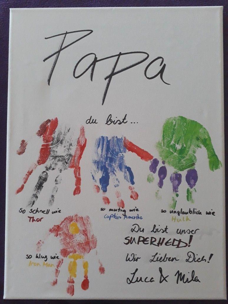 Papa Du Bist Unser Superheld Vatertag Superherogifts Papa Du